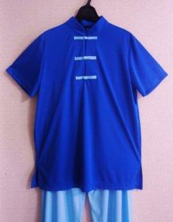画像1: ボタン色自由選択〜中国Tシャツ