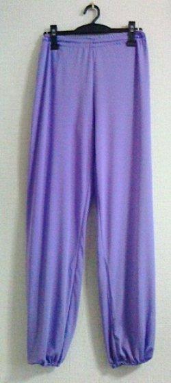 画像1: 即日送付/特価T生地パンツ/紫&藤色/肌触り滑らか