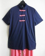 七分&半袖/ボタン色自由選択〜中国Tシャツ