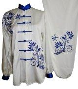 極細つや消し/青花刺繍表演服